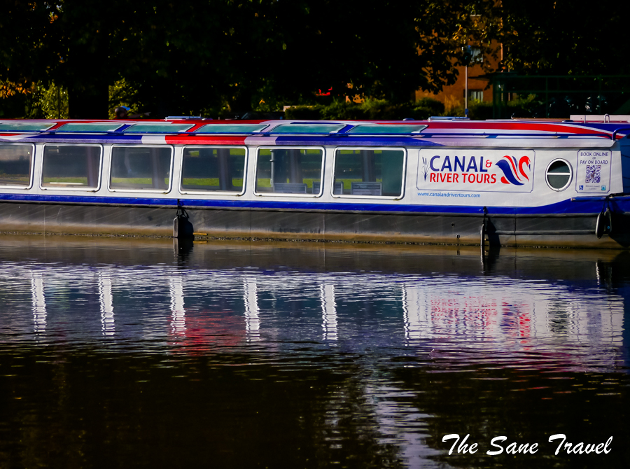 Stratford canal river boat
