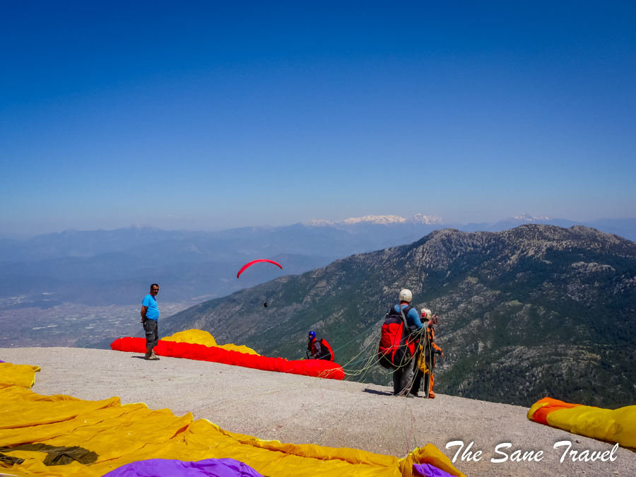 Breathtaking tandem paragliding flight from Babadag Turkey