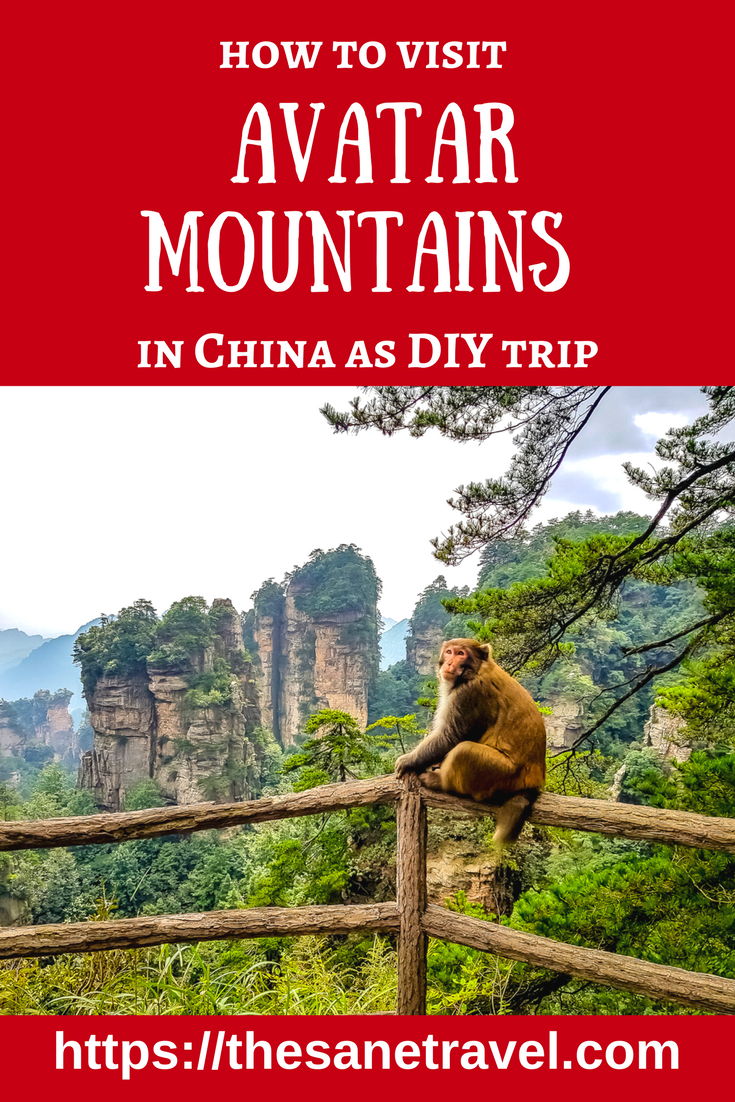 Zhangjiajie in China became popular in foreign travellers' eyes after the movie Avatar. The Hallelujah Mountains in Avatar were inspired by Heavenly Pillar in Zhangjiajie National Forest Park. Here is how to visit Avatar mountains as DIY trip. #China #Travel #Avatar #traveltips #traveling #travelling #Zhangjiajie