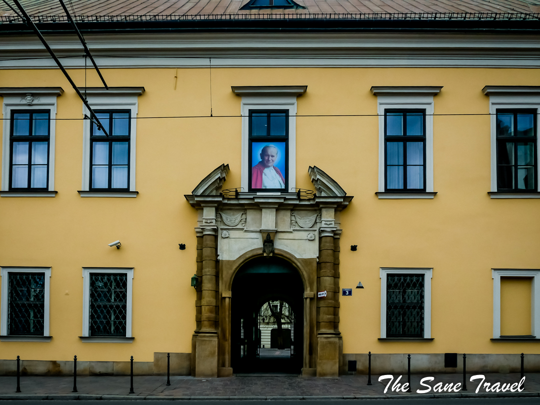 Krakow pope Jan Pavil residence