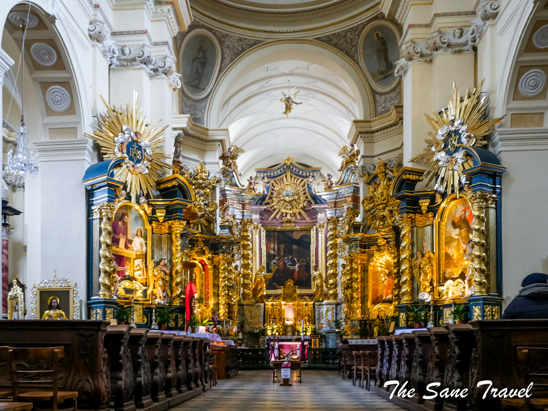 krakow Saint Bernardino church interior