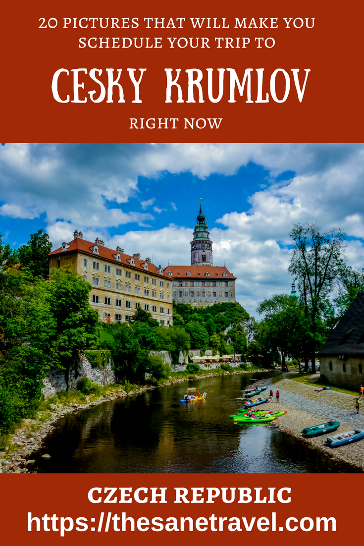 A UNESCO World Heritage Site, Český Krumlov is famous for its Old Town with 300 medieval buildings, and its castle complex. See 20 pictures that will make you schedule your trip to Český Krumlov. #travel #Czechia #czechrepublic #travelphotography #ceskykrumlov #travelblogger #travelblog #traveltips #Europe #Europetravel