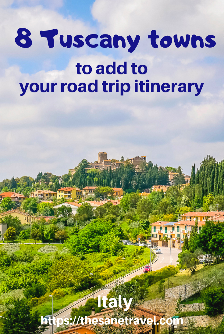 Dreaming to see the best towns in Tuscany, Italy?  Read my suggestions of 8 towns to include in your Tuscany road trip. The first region of Tuscany you enter going south from Florence is Chianti.  You will be following one of the most scenic roads in the area. Find picture perfect views of that landscape on your way. Continue your journey through UNESCO listed Val d'Orcia up to Montepulciano. #besttownsofTuscany #TuscanyItaly #visitTuscany #tuscanydestinations #travelphotography #travelblog