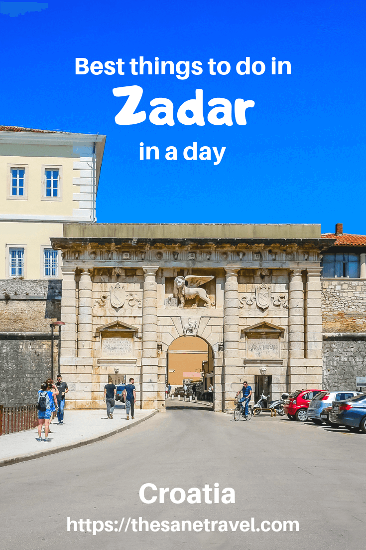 Planning your Croatia holidays? Make sure to include Zadar on Dalmatian coast in your Croatia itinerary. There are many things to do in Zadar to explore its historic heritage and current developments and of course watch an awesome sunset. #visitCroatia #VisitZadar #Europetravel #travelphotography #travelblog