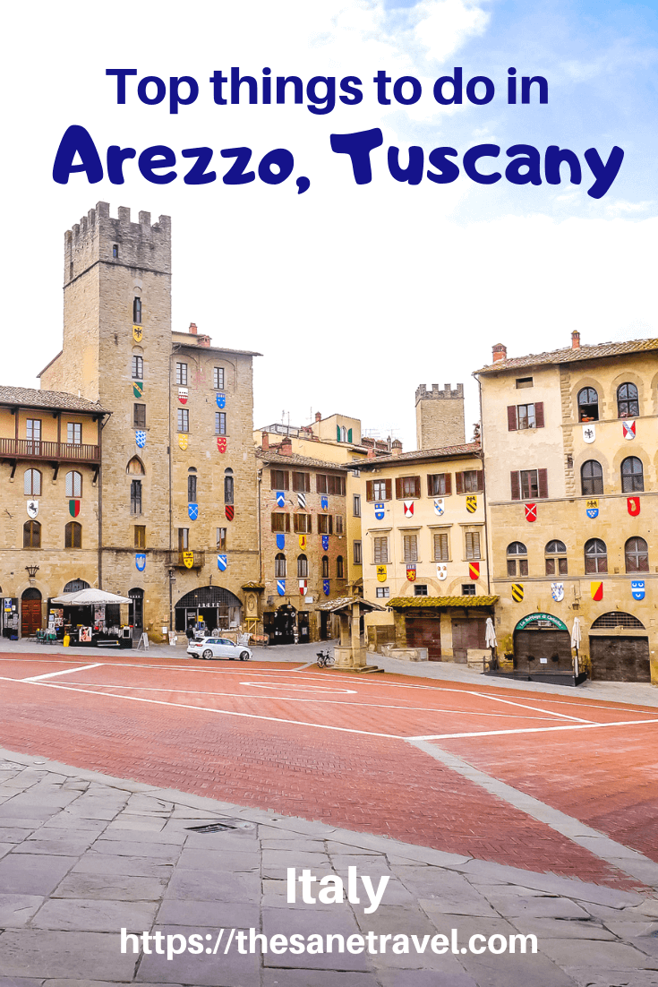 "When thinking about the best places in Tuscany, do not forget to include a visit to Arezzo to feel its atmosphere, hospitality, art and gastronomy without crowds of tourists. The city has many great examples of Medieval and Renaissance art. Arezzo was the birthplace of the great poet Petrarch, and it became internationally famous as the backdrop to a Roberto Benigni's film ""Life is Beautiful"". #Arezzo #bestplacesinTuscany #thingstodoinTuscany #travelphotography #visitItaly #travelblog"