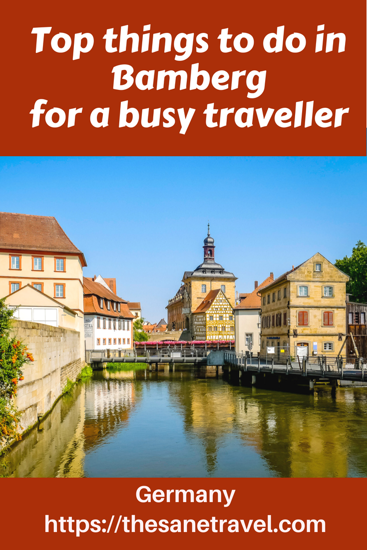 The town of Bamberg is a UNESCO World Heritage Site because of its authentic medieval appearance, so make sure to include it in your list of must sees in Germany. Here are top things to do there. https://bit.ly/2M6zDtf #VisitGermany #traveltips #travelphotography