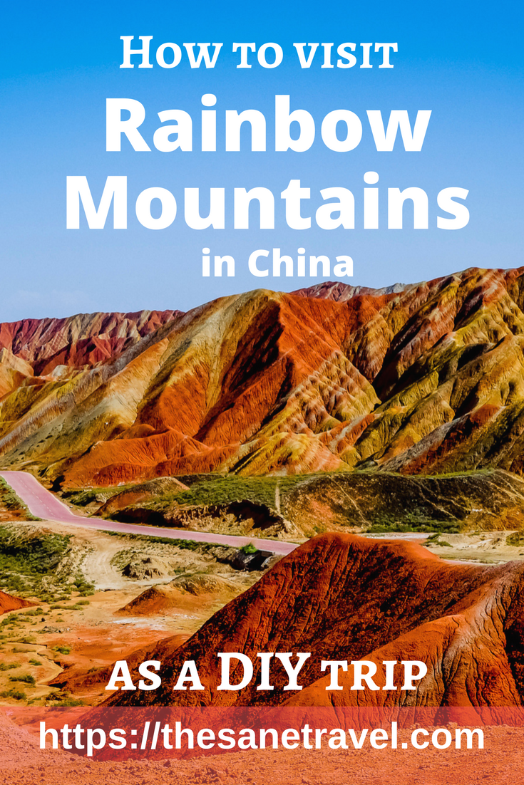 Rainbow Mountains in China is one of the Top 10 Geographical Wonders of the World selected by National Geographic. Here is how to do this trip yourself, not knowing Chinese. #RainbowmountainsChina #travel #traveltips #visitChina #travelphotography #travelblog