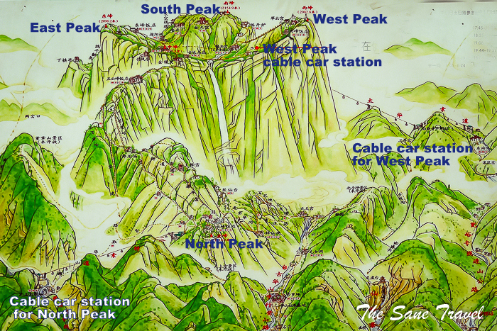 How to visit Hua Shan in China as an easy DIY trip China Peak Map on
