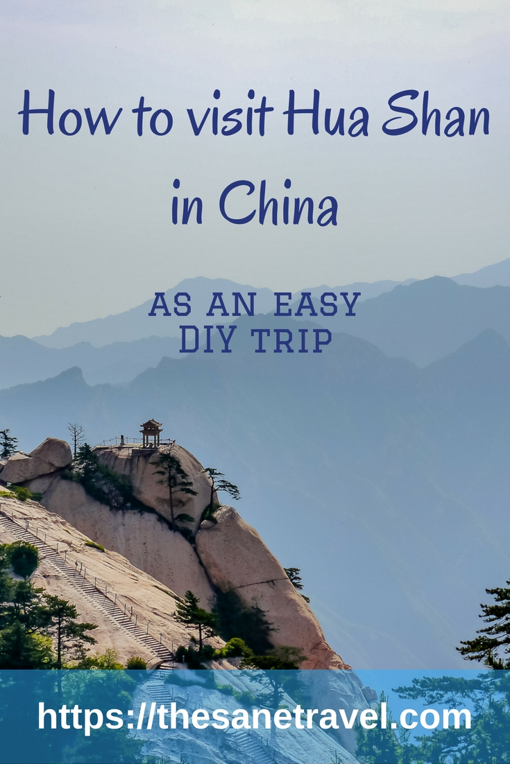Did you know that the world's most dangerous hike can be done by average people who probably have very little experience with dangerous climbs? Find out more about climbing Hua Shan in my article. #visitChina #HuaShan #travelblog #traveltips #travelphotography https://thesanetravel.com/travels/china/how-to-visit-hua-shan-in-china-as-easy-diy-trip