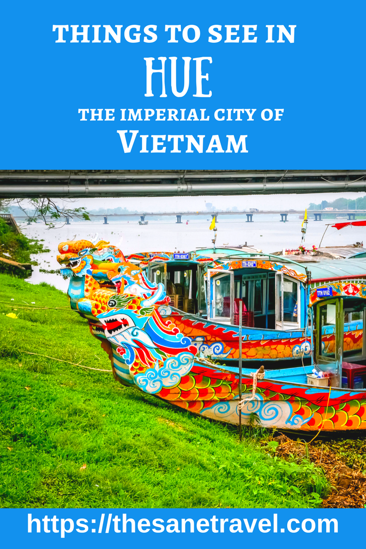 Hue city was the imperial city of Vietnam under 13 kings of the Nguyen Dynasty from 1802 to 1945. Here is my selection of 8 things to see in beautiful Hue. #travel #Hue #Vietnam #Imperial #travelblog #traveltips #Asia #travelphotography