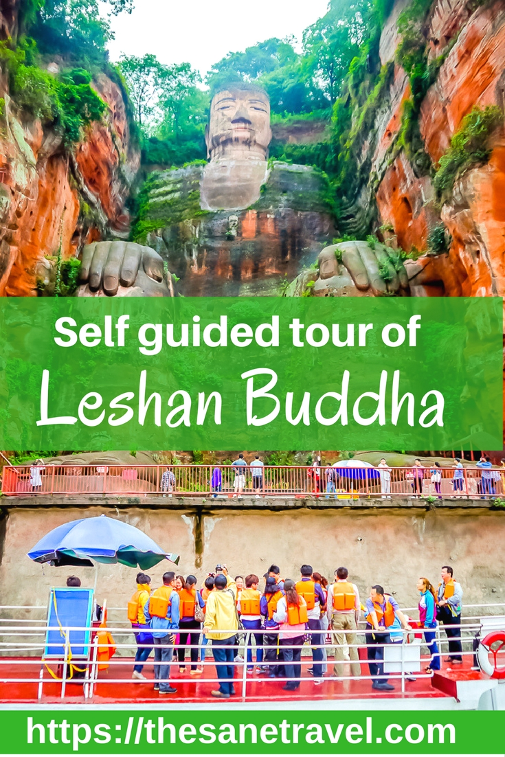 The Giant Buddha at Leshan in #China has for decades been one of the brightest stars among Chengdu's tourist attractions. It's located in a beautiful park setting in #Leshan, about a two-hour drive from #Chengdu. Here is how to do a self guided tour of Leshan Buddha. #travel #traveltips #travelphotography https://thesanetravel.com/travels/china/leshan-buddha