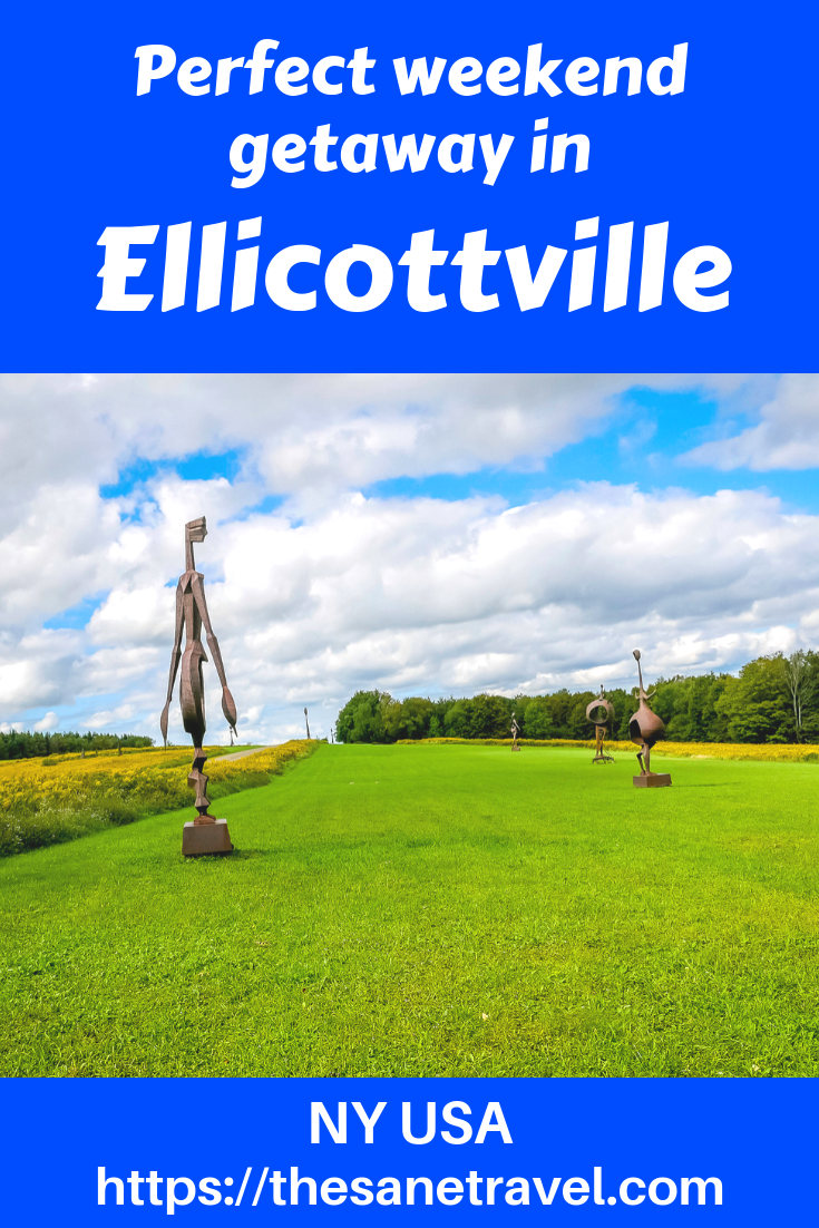 The charming Ellicottville in New York State, is about an hour from Niagara Falls. It attracts its visitors with excellent ski resorts: Holiday Valley and HoliMont. When visiting enjoy interactive sculptures in Griffis Sculpture Park and try blueberry beer of Ellicottville Brewing Company in one of America's best 100 Adventure Towns. Here's a list of things to enjoy for your weekend getaway. #USAtravel #weekendgetaway #travelblog #travelphotography #ellicottville #IloveNY