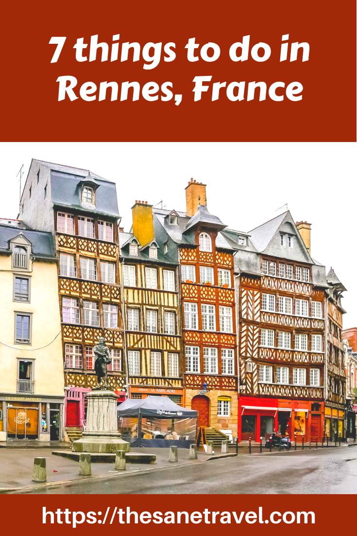 Colourful Rennes, capital of Brittany just two hours from Paris by high speed train, is well worth visiting, firstly because of the almost 300 historic half-timbered buildings. Check the things to do in Rennes for your travel inspiration. #Rennes #visitFrance #visitBrittany #travelphotography #travelblog #travelphotography #Europetravel #culturetravel