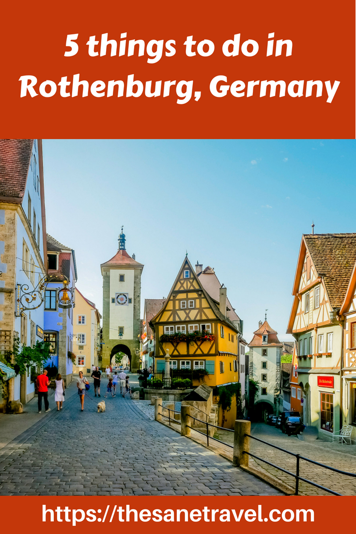 Did you know that Rothenburg ob der Tauber was voted as number 5 of the Best Travel Destinations in Germany? Check the things to do in this medieval city! #Rothenburg #RothenburgobderTauber #Visit Germany #traveltips #travelphotography