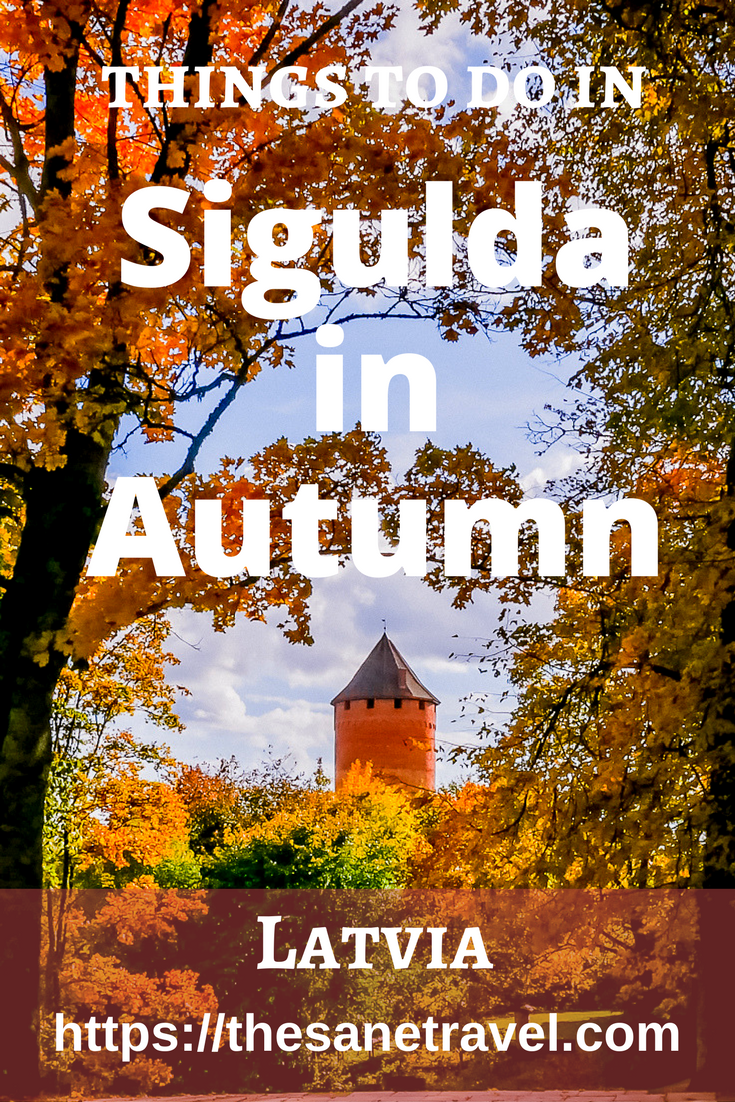 Autumn colors in Latvia are awesome. Have you been? Check 9 things to do in Sigulda in Autumn. #travel #autumntravel #Europetravel #travelphotography #visitLatvia