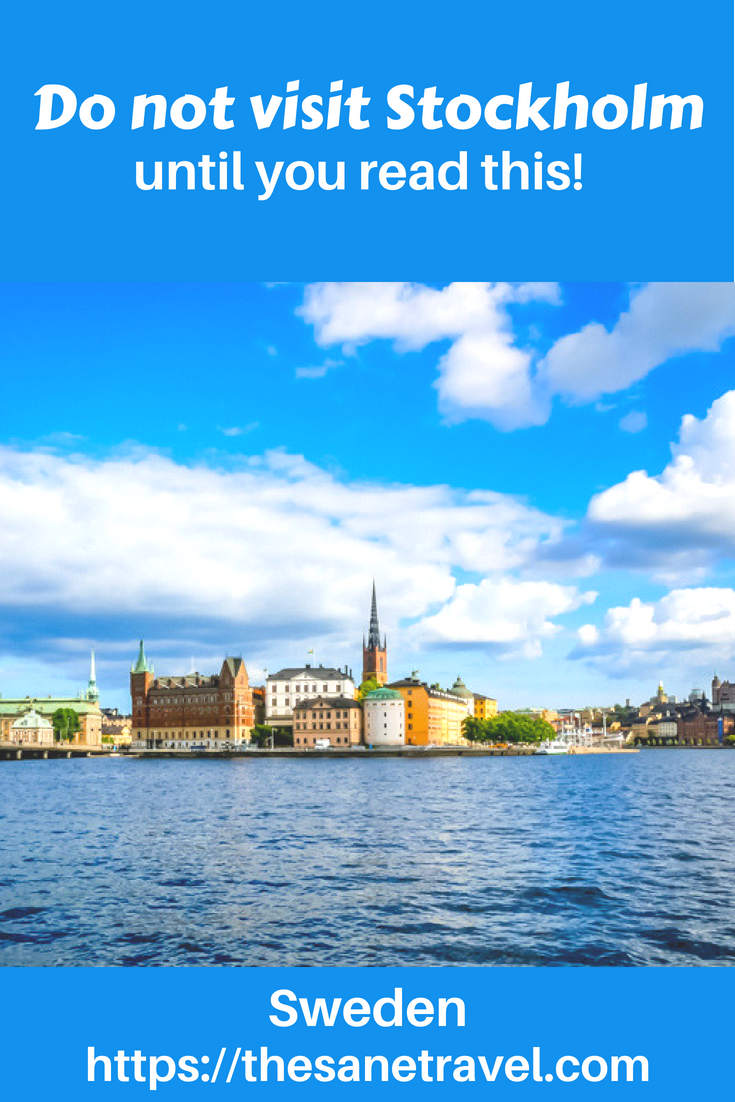 Read this before you visit Stockholm! It will save you money and time! #travel #visitStockholm #traveltips #travelblog