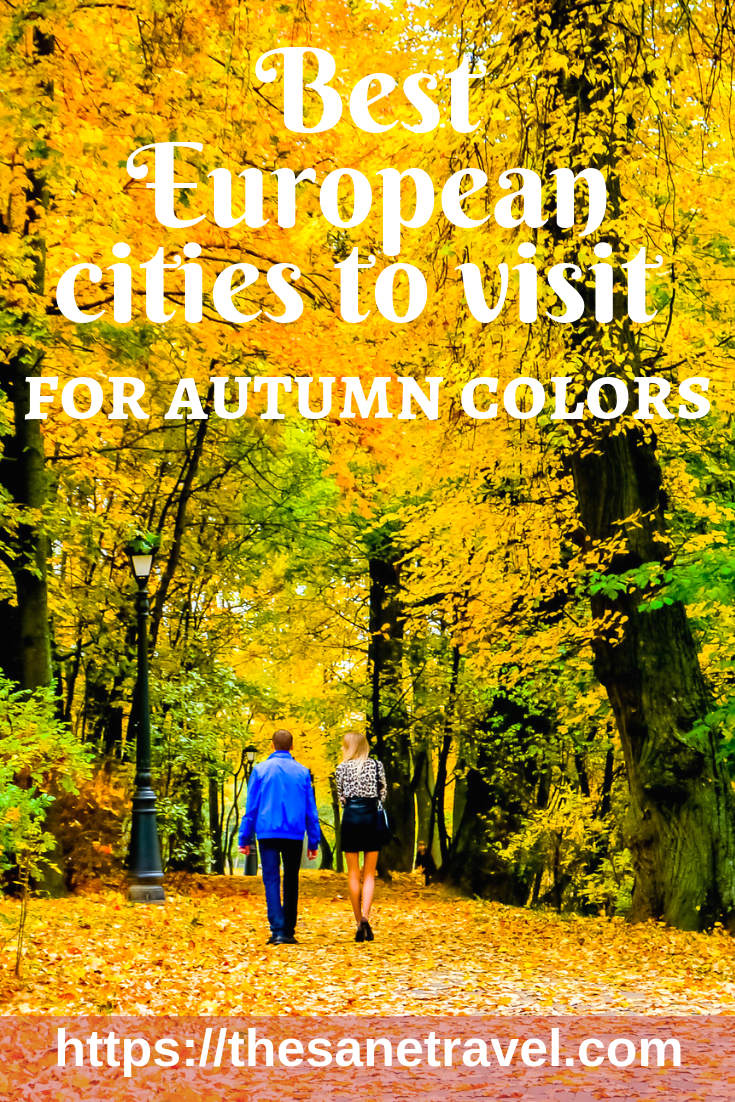 Looking for the best European cities to visit in October to enjoy autumn colors and fall foliage? Check my suggestions about four great European cities to visit in Autumn for your inspiration. #travel #autumntravel #Europetravel #travelblog #autumnleaves #fallfoliage